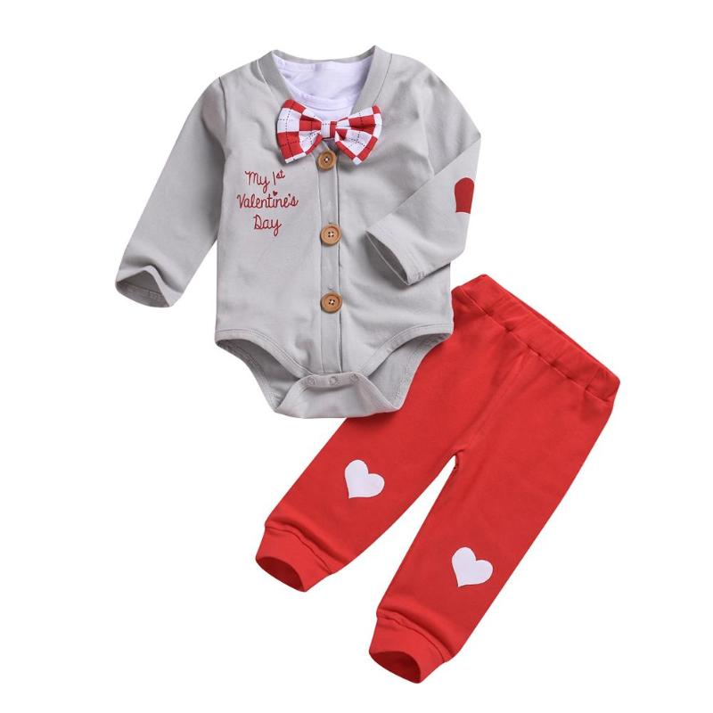 My 1st Valentines Day Bowtie Sweater & Pants Set