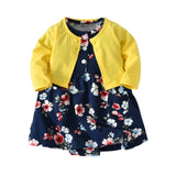 Baby Girl's 2pcs Cardigan + Floral Bodysuit Dress