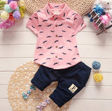 Summer Baby Boys Clothes Suits Gentleman Style Boys Clothing Sets T- Shirt+Pants 2Pcs Casual Sport Suits Toddler Sets