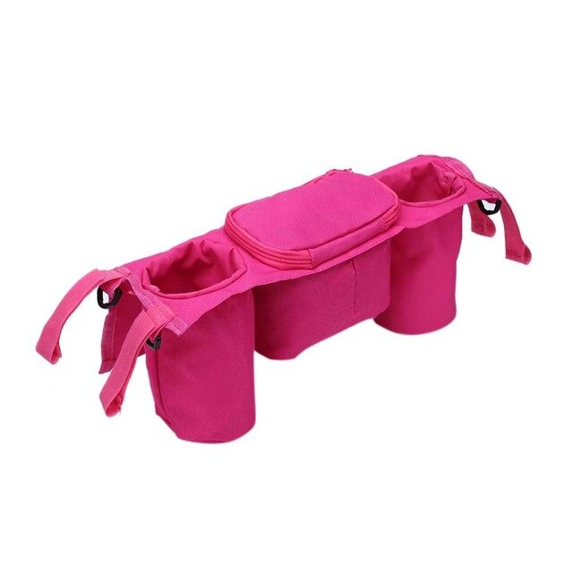 Baby Stroller Wheelchair Organizer Bag Stroller Pram Bottle Hanging Bags Bottle Cup Holder Bag Baby Stroller Accessories
