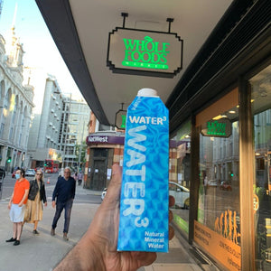 Now Stocked At Whole Foods Market UK: WATER³