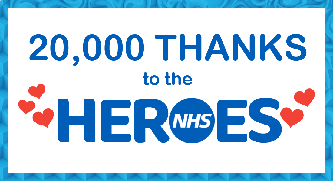 20,000 Thanks for NHS Heroes