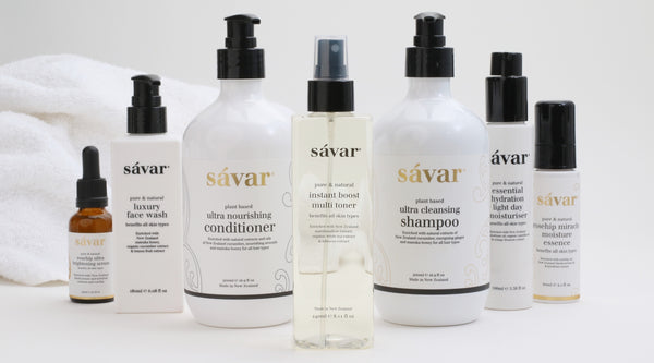 Savar natural skin care products officially endorsed by New Zealand FernMark