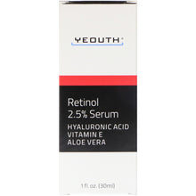 Load image into Gallery viewer, Yeouth, Retinol, 2.5% Serum, 1 fl oz (30 ml)