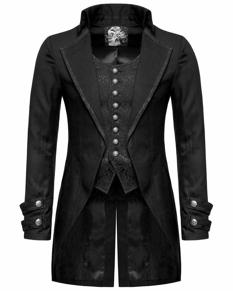 Mens Vintage Steampunk Jacket Gothic Victorian Frock Morning 100 Cotton