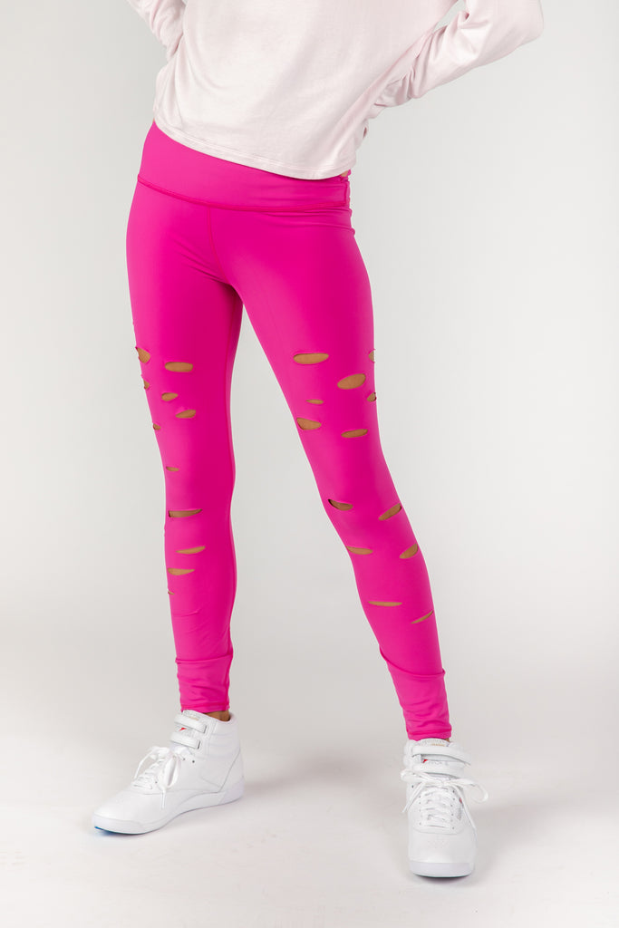 Cut it Out Pink Leggings