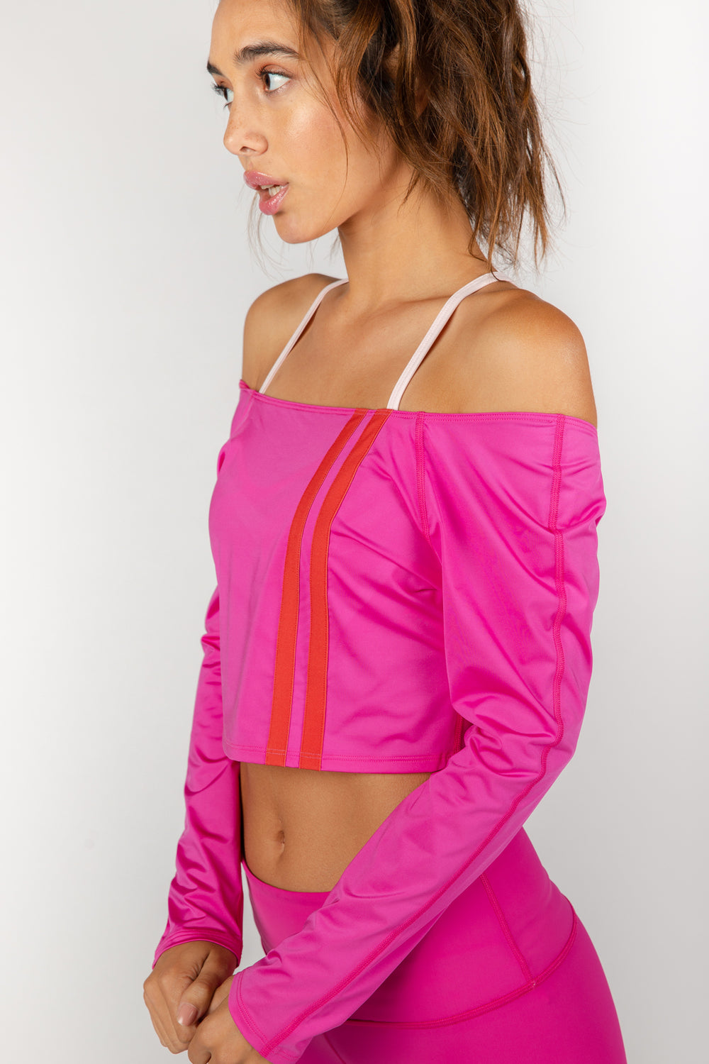Game Changer Pink Cropped Tee