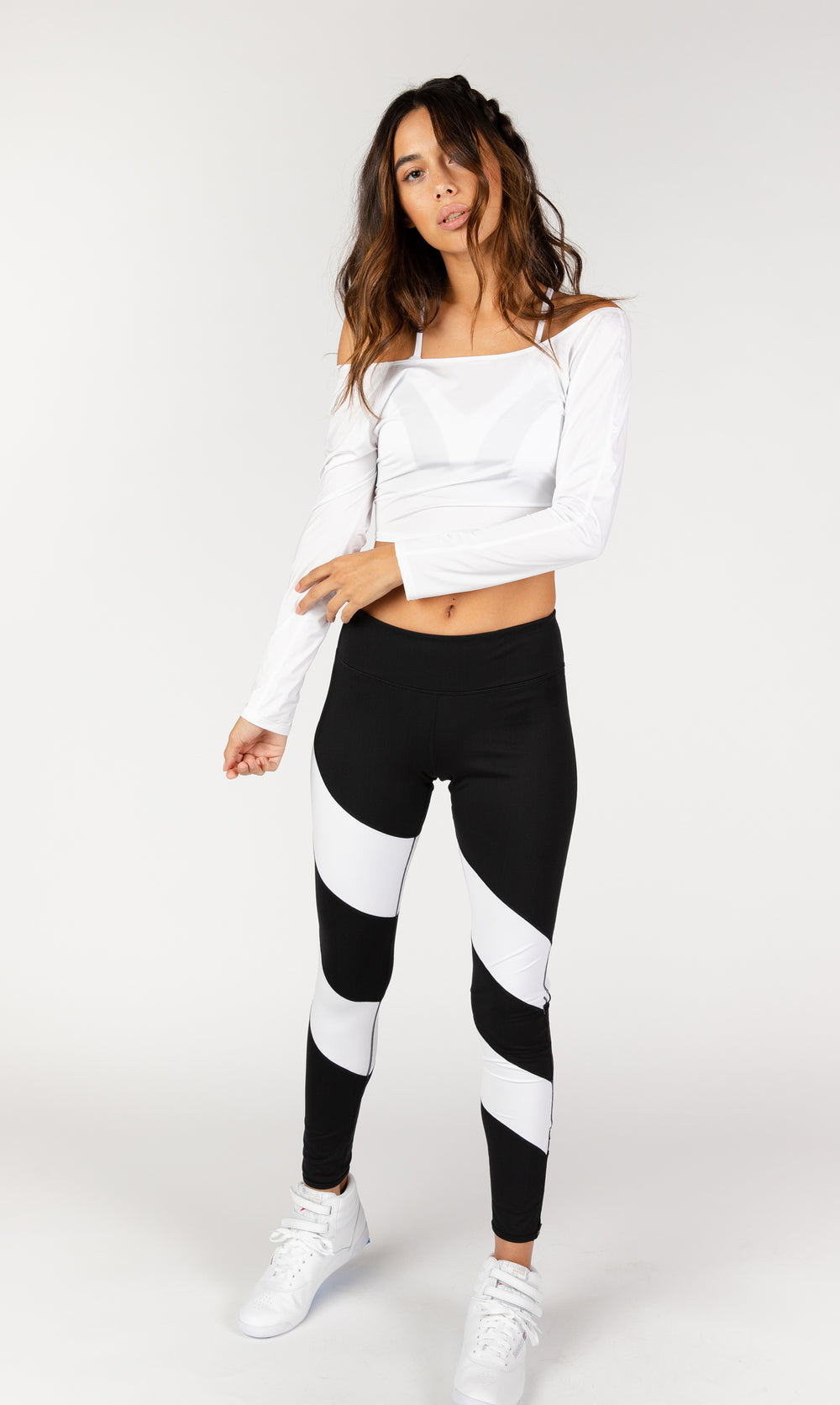 Game Changer White Cropped Tee