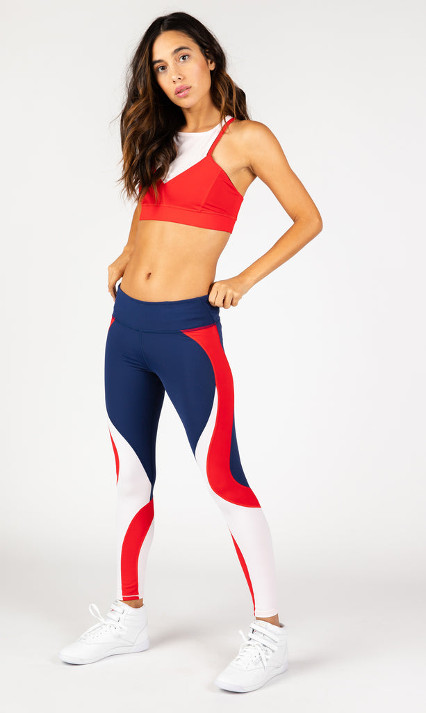 Hot Mesh Red Sports Bra