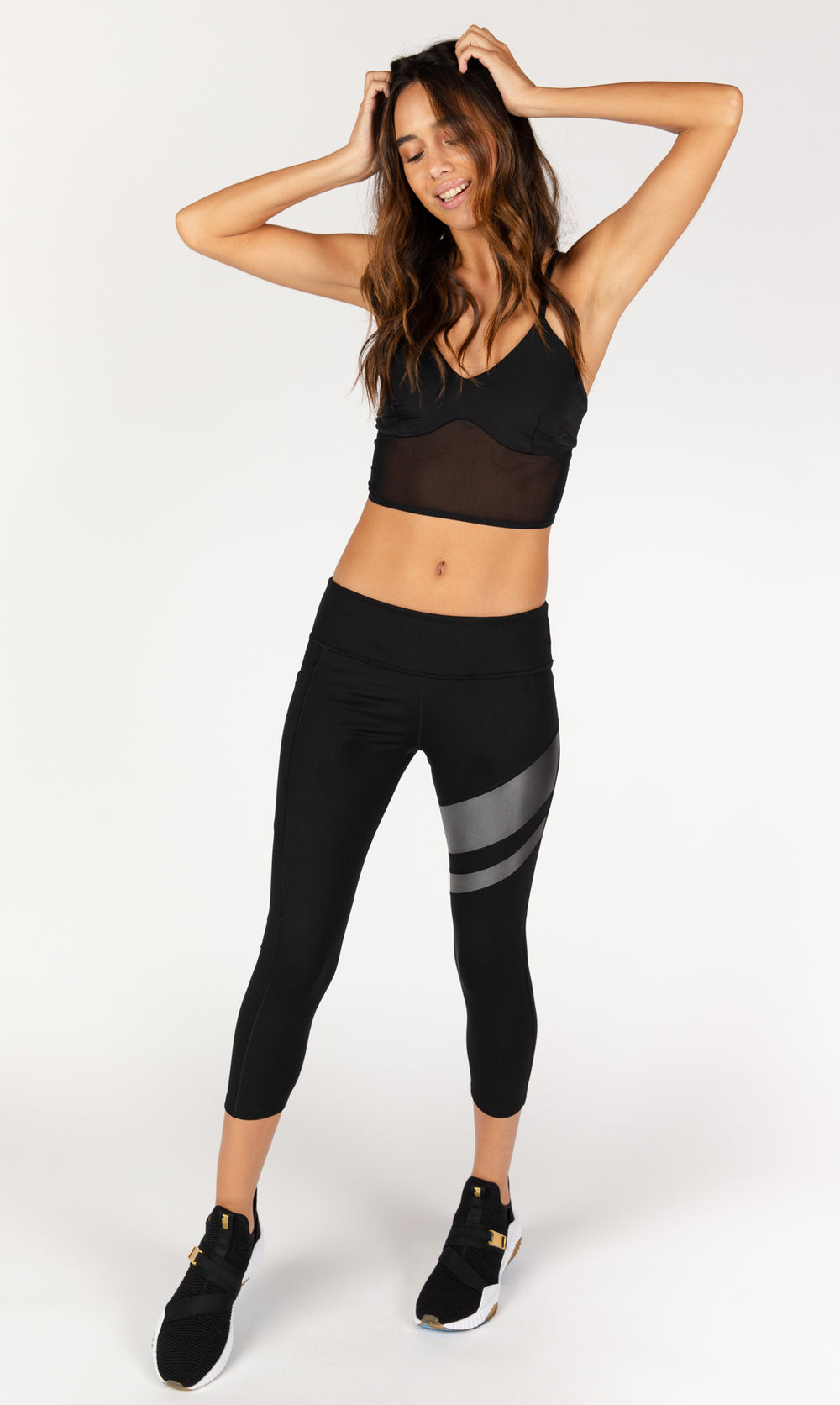 Don't Mesh With Me Black Sports Bra