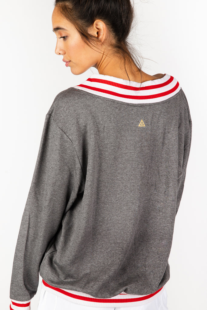 Stripe Out Grey Sweater