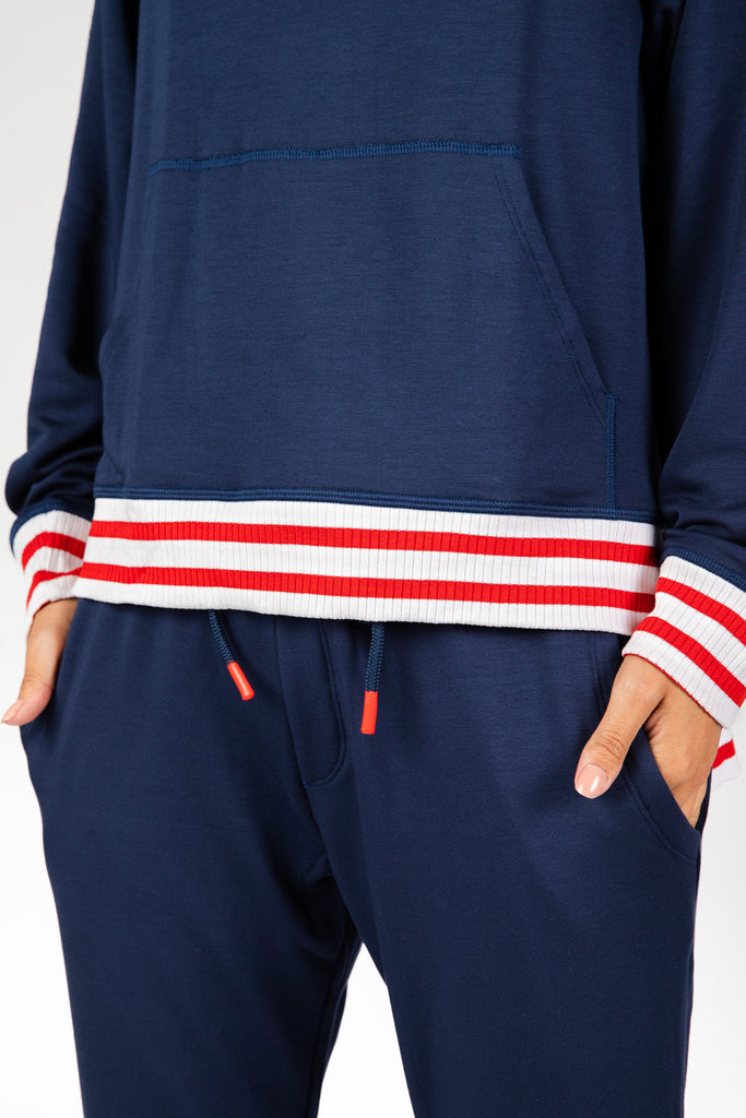 Stripe Out Navy Sweatpants