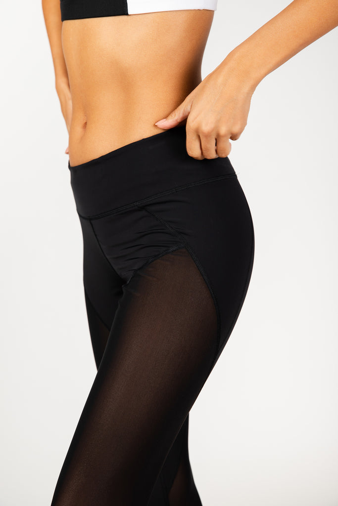 Total Mesh Black Leggings