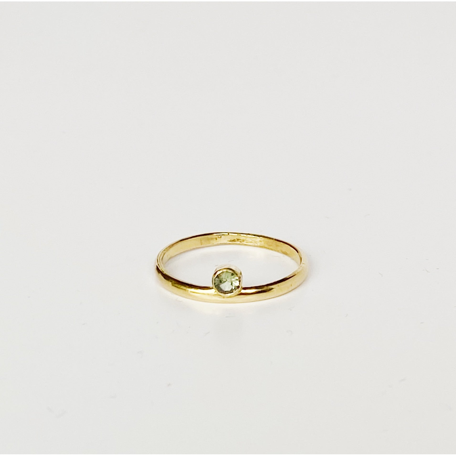 Delicate Sapphire Gold Ring