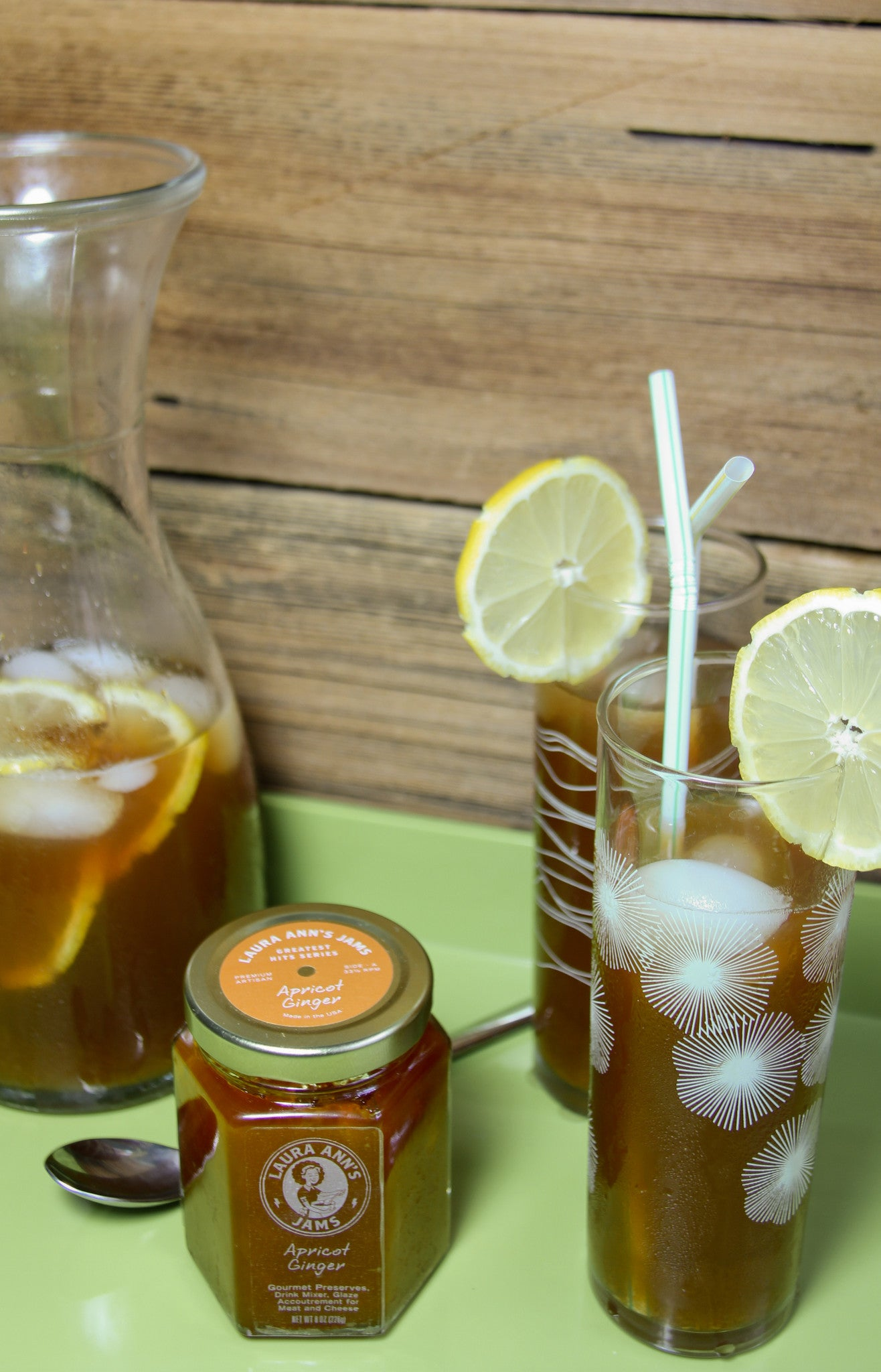 Apricot Ginger Iced Sweet Tea
