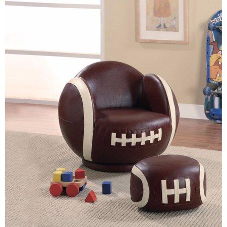 Prime Sporty Addition Football Chair Ottoman White Brown Pdpeps Interior Chair Design Pdpepsorg