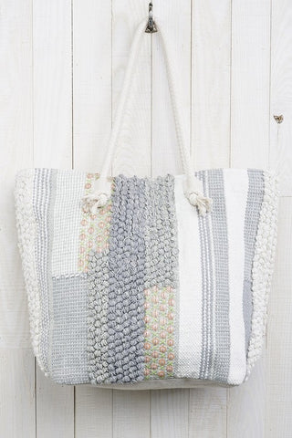 Hand loomed cottage tote