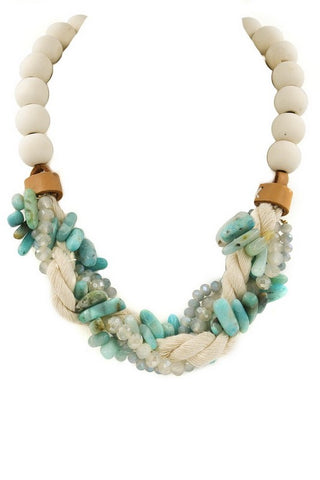 soft stone braided necklace