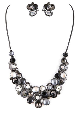 black onyx jeweled set