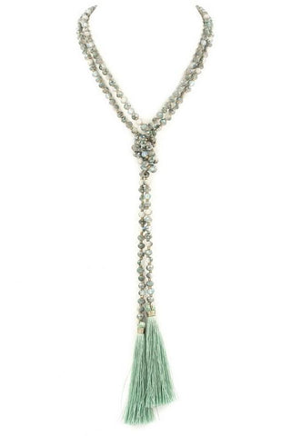 semi precious lariat in mint