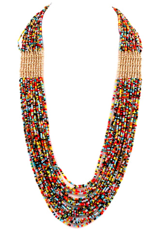 tropical seed bead in multi