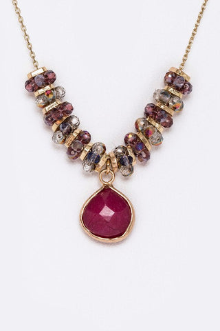 semi precious ruby drop