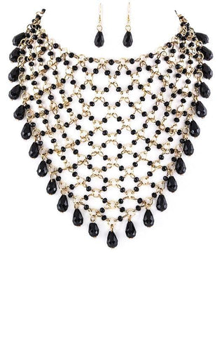 antique jeweled fringe bib