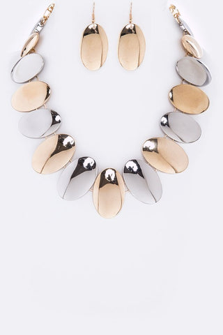 high polished oval set