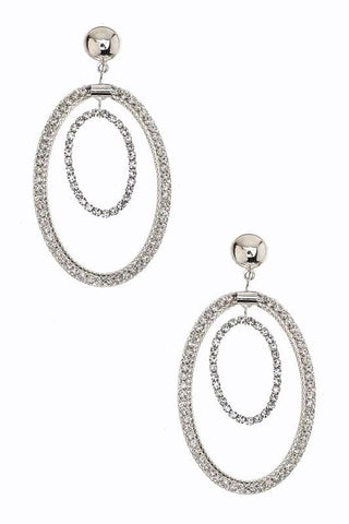 crystal lined double hoops