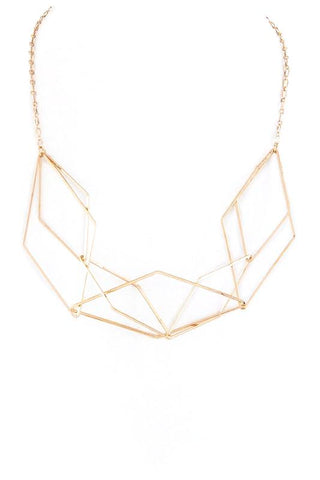 organic geo link necklace