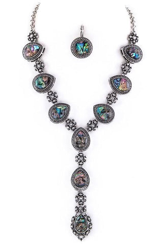 antique abalone lariat