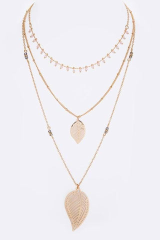 layered in gold leaf necklace