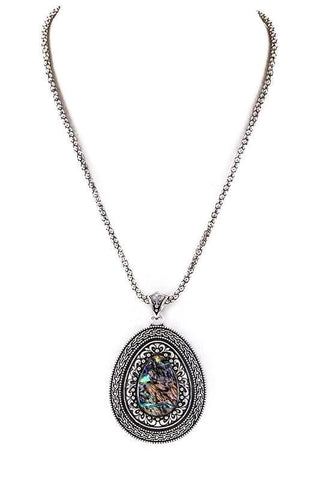 antique pave teardrop pendant