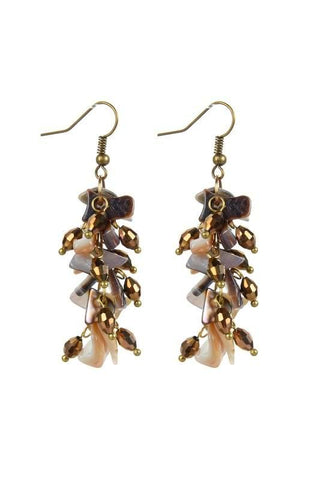 faceted stone dangles