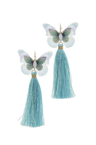 whimsical butterfly tassels