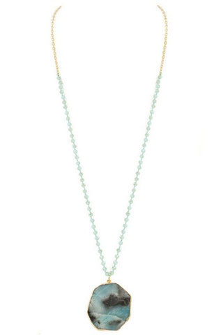 gorgeous in amazonite & gold