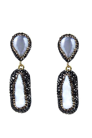 mother of pearl crystal stunners