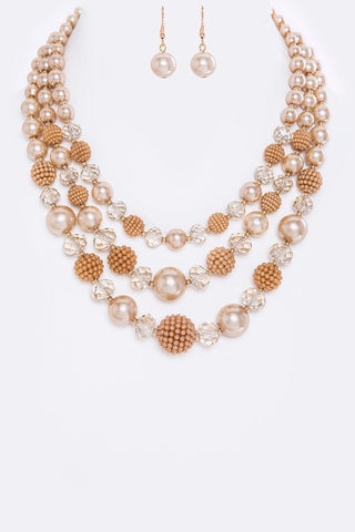 champagne couture pearls