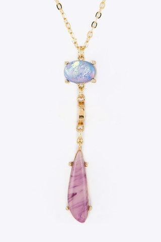 opal layered teardrop