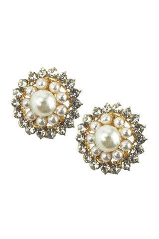 antique pearl studs