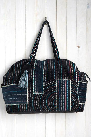 embroidered rainbow travel bag