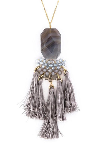 quartz & crystal fringe