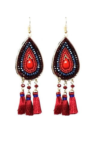 beaded gypsy in red