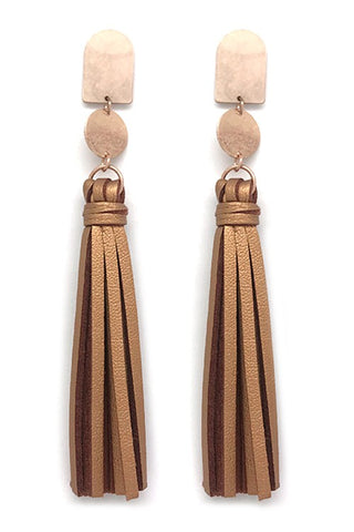 leather cut out dangles