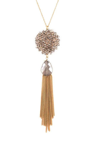 black diamond long tassel