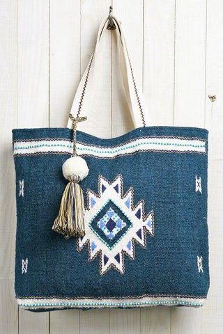 hand loomed woven tote