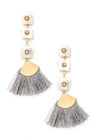 tiered mother of pearl tassels