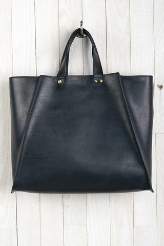 leather tote with gold studs