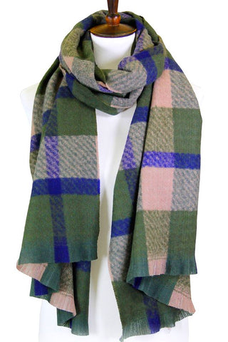 wool plaid in green