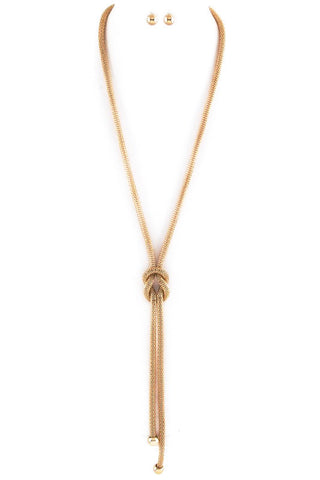 summer in gold knotted lariat